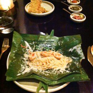 Noodles à la coco et ses crevettes
