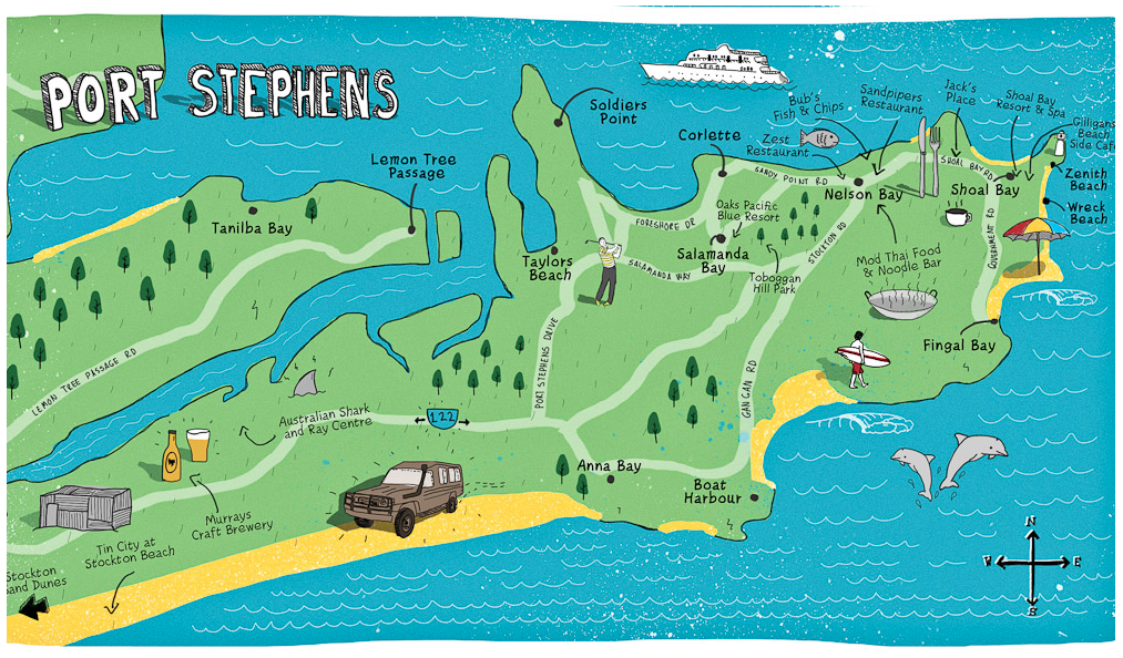 Carte de Port Stephens
