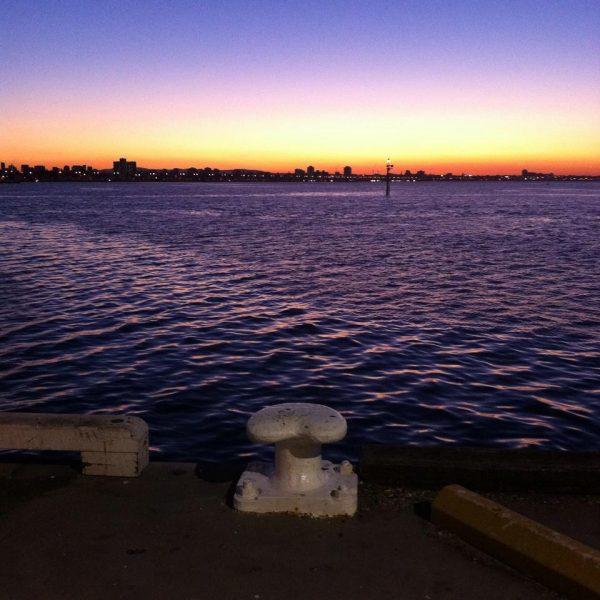 Lever de soleil au départ du Ferry