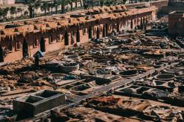 Les tanneries de Marrakech