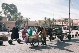 L'une des jolies places de Marrakech