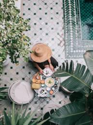 Petit Dejeuner au Riad Yasmine
